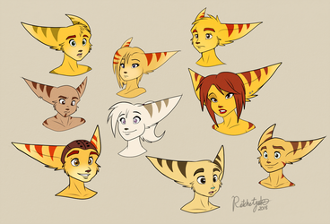 Lombax Busts by RatchetJak