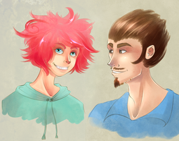 Commission - Kumatora and Duster by TheSylverLining