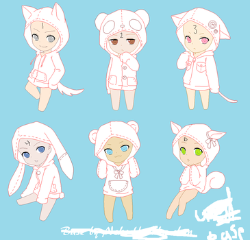 Chibi Hoodie Base By Nekoharuka Chan-d4gnmcn by AnimaeAllie