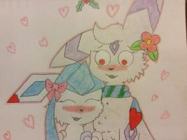 ~Glacie and Lunar~ by Glacie-the-Glaceon