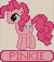 Pinkie Pie Cross Stitch Design by moonprincessluna
