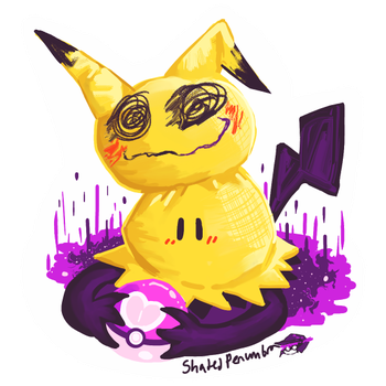 Another Mimikyu Sticker by ShadedPenumbra