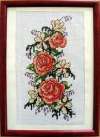 Roses Cross-stitch by solgas