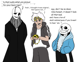 Gaster is not impressed by BlizzardBrick