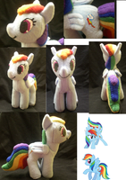Rainbow Dash Plush finished by Who-Butt
