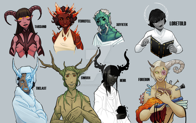 Tieflings of the 8 Realms [DnD 3.5e Homebrew] by Asparagusunited
