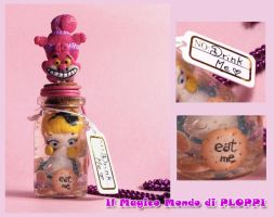 FIMO Alice in Jar Bottle by MagicoMondoDiPLOPPI