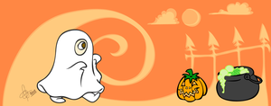 = Ghost Halloween Mug = by Astral-Dragon