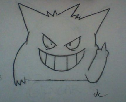 Gengar Used Mean Look by JacCmpbl