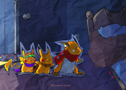 Fighting Monsters by super-tuler