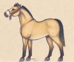 Horses of Hyrule: Goron Draft Horse by who-stole-MY-name