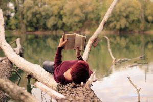 Reading on water.. by Squinsy
