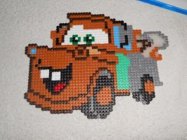 Mater from Cars - Perler or Hama by Chrisbeeblack