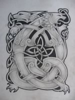 celtic lion and dragon2 by knotty-inks