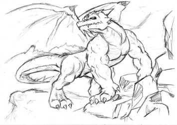 Request 5 - Realistic Dragon by WerewolfMax