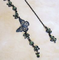 Bead and butterfly Bookmark 1 by Alisha-Mordicae