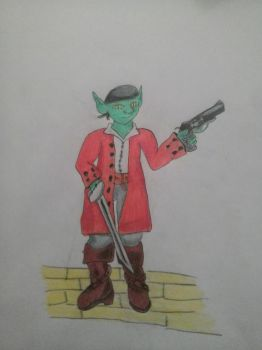 Goblin Pirate Magic Character by Cc-same