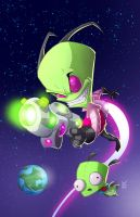 Invader Zim variant cover by Fpeniche