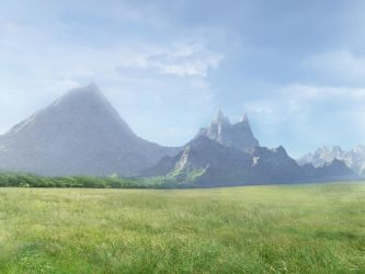 178 field and mountain by Tigers-stock