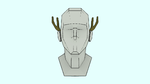 head with antlers drawing aid (animated) by EvilBeanz13