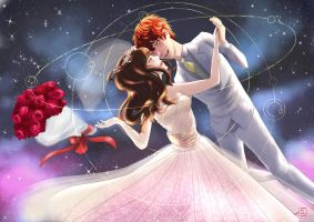 Let's get married in the space station by LeliaArtwork
