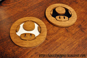 Tutorial how to make Mario Mushroom Coasters by M2Grzegorczyk