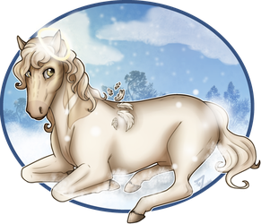 Snow Horse by Zelendur