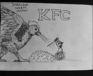 Inktober - Chicken by seafang13