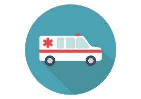 Ambulance-car-flat-vector-icon by superawesomevectors