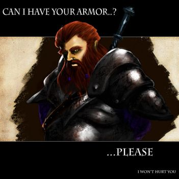 Dwarf in need of a new armor by rickkhunter