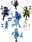 Sapphire-Pearl-Obsidian Hexafusion by ErinPtah