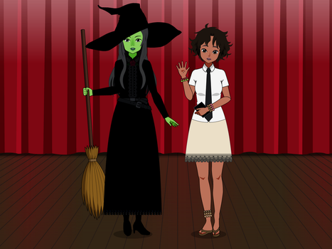 Musical Stage Play Heroins - Elphaba and Nabulungi by kari-00