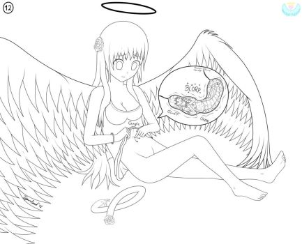 [WIP][Lineart] Tigerclouds willing food Lila 3/3 by Angel-Tigercloud
