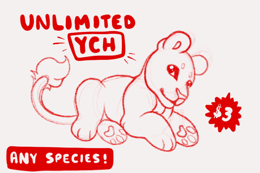 YCH - UNLIMITED SLOTS - OPEN by starry--knight