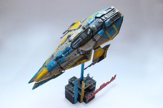 3D Printed Feisar Fighter From Wipeout 2048 07 by houssamica