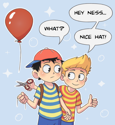 Ness and Lucas by Laughe
