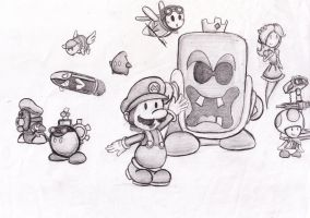 Paper Mario Helpers by locomotive111