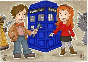 11th Doctor and Amy Pond by beckadoodles