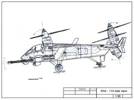 XHA-113 side view by TheXHS