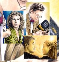 Doctor Who sketchcards by whu-wei