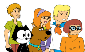 Felix the Cat with Scooby-Doo and gang by MarcosPower1996