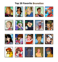 TOP 20 Favorite Brunettes by xxGaby-23xx