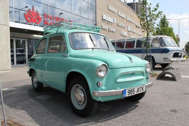 Stock - Small blue car by triinustock