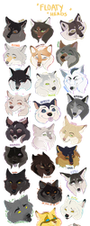 SO MANY FLOATING WOOFS by halloumicheese