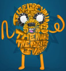Jake the Dog ''Life Quotation'' (Adventure Time) by ngetzky