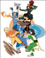 Team Avatar by Drawing-Wiff-Waffles