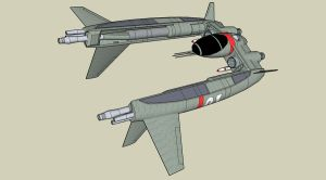 UF 67 Switchblade fighter by Andywerk