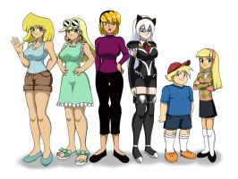 Point Commission: The Blonde Family and Fatina by WaRrior9100