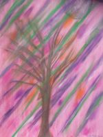 Pink with Tree by Art-From-The-Id