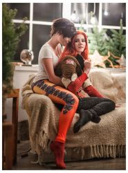 Overwatch Cosplay Tracer - Merry Christmas! by fenixfatalist